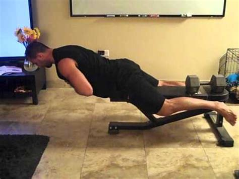 back extensions without bench how to do back extensions off of a standard bench youtube