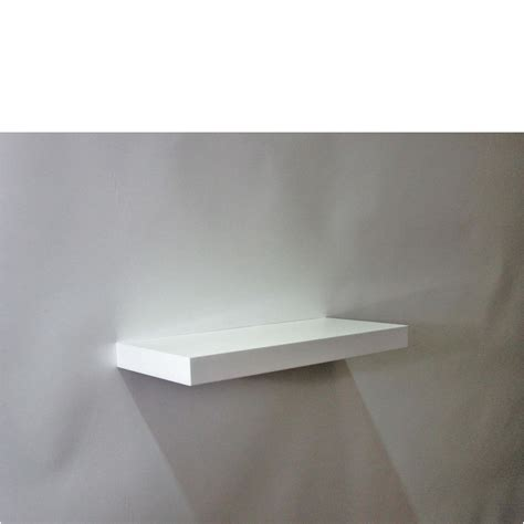 gloss white floating shelf 450x200x38mm mastershelf