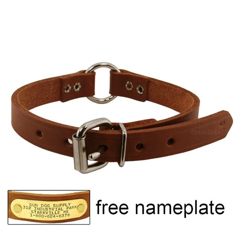 small leather collars 3 4 in leather center ring puppy small collar 5 99