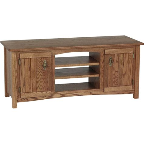 solid wood tv cabinet mission solid wood oak tv stand w cabinet 51 quot the oak