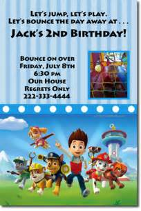 paw patrol birthday invitations candy wrappers thank you