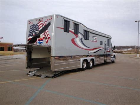 Motorhome Garage Plans by 2003 Kingsley Coach Custom 48ft Toy Hauler In Elk River
