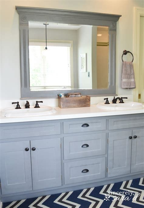 painted cabinets bathroom painting cabinets and using shortcuts sincerely sara d
