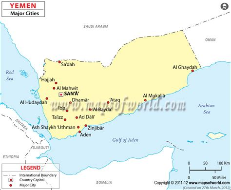 printable map of yemen yemen cities map major cities in yemen