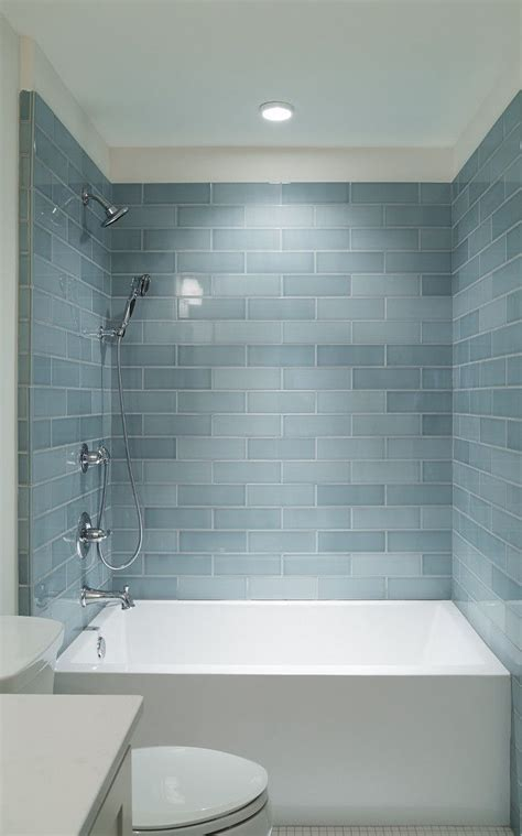 Bathrooms With Subway Tile Ideas 17 Best Ideas About Blue Subway Tile On Blue Backsplash Backsplash Tile And