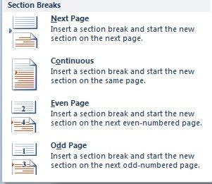 inserting a section break how to insert page breaks and section breaks officesmart