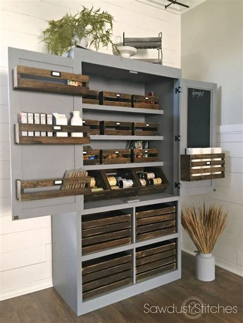 Diy Kitchen Pantry Ideas by A Freestanding Pantry For Small Spaces Your Projects Obn