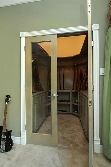Gun Closets by Gun Cabinet In Closet Woodworking Projects Plans