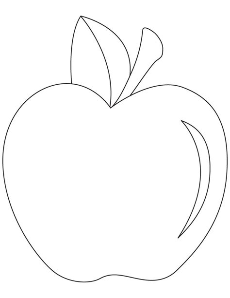 apple leaf coloring page apple leaf template cliparts co