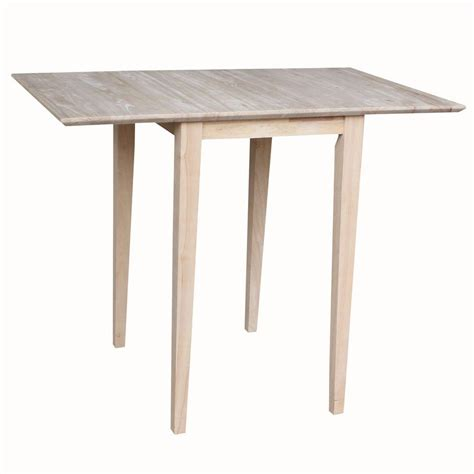 Unfinished Kitchen Tables International Concepts Small Drop Leaf Wood Unfinished Dining Table T 2236d The Home Depot