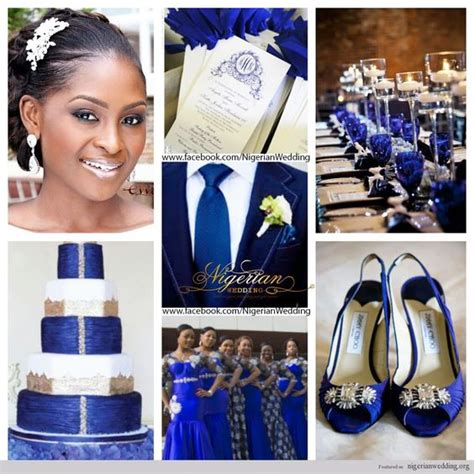colour themes with white nigerian wedding cobalt blue white and silver wedding