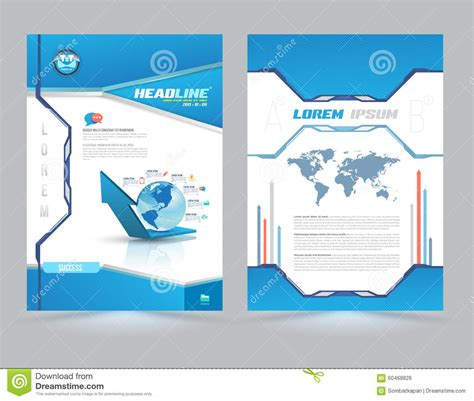 page layout design vector cover page layout template technology style stock