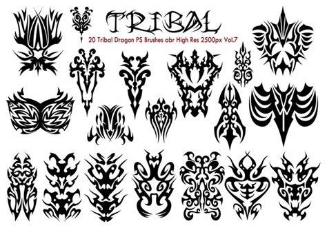 tribal pattern brush photoshop tribal ps brushes vol 7 decorative photoshop brushes