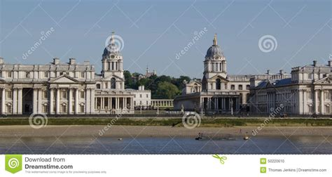 london thames college bell towers of the old royal naval college in the thames