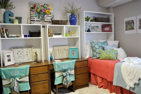 dorm headboard shelf love the use of this shelving unit in place of a