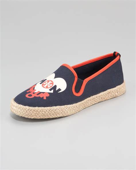 burch slip on sneaker burch alaine slip on sneaker in blue navy