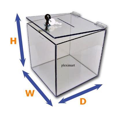 Clear Box 10 clear plastic suggestion ballot box 10 quot x 10 quot x 10 quot 1 4 quot thick