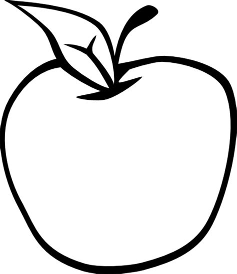 apple clipart coloring page empty apple clip art at clker com vector clip art online