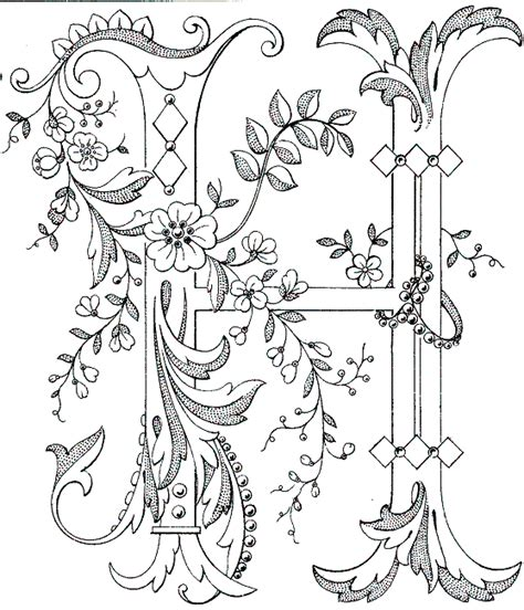 free printable alphabet letters for embroidery free coloring pages of fancy alphabet letters