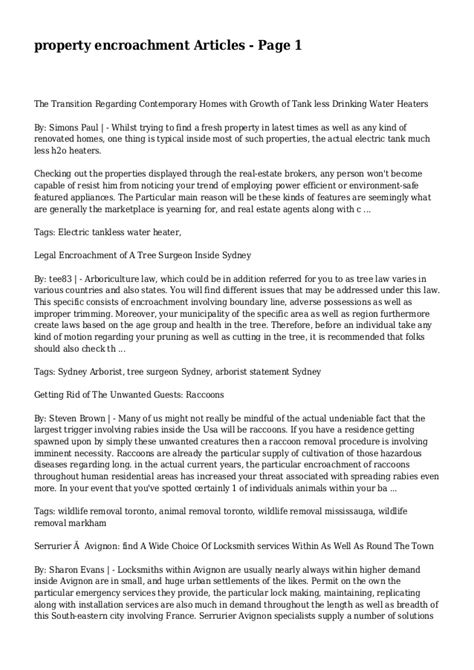 encroachment agreement template property encroachment articles page 1