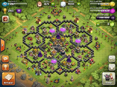 clash of clan th 9 war base townhall 9 base war and farming clash of clans