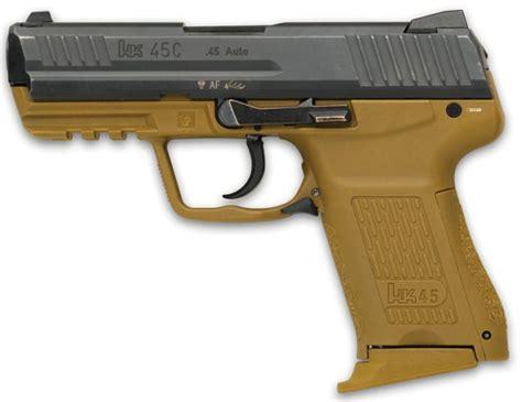 colored handguns hk 45 171 modern firearms