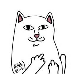 Middle Finger Cat Meme - ripndip by sashaxp on deviantart