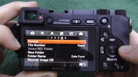 Format Video Sony A6000 | a6000 how to format the memory card youtube