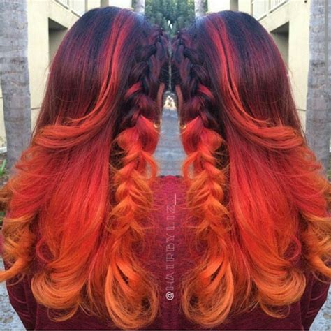 brown orange color brown to orange ombre hair colors ideas