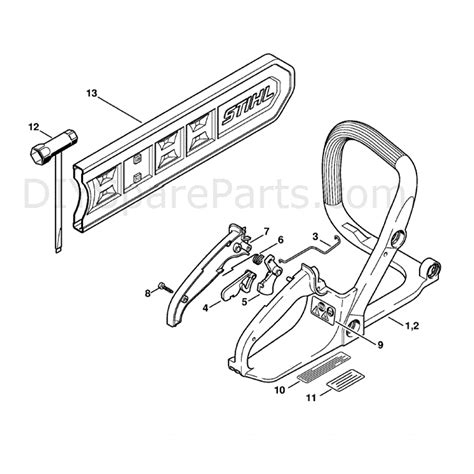 stihl ms180c parts diagram stihl ms 180 chainsaw ms180c b d parts diagram handle frame