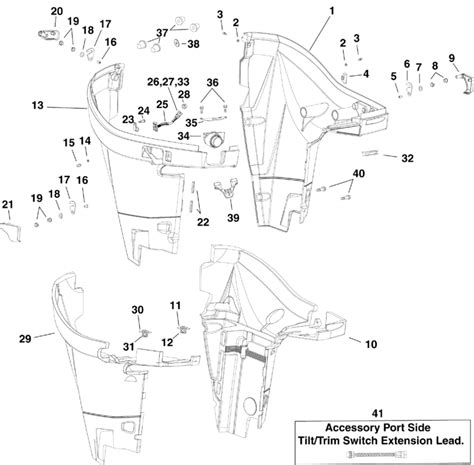 evinrude etec parts diagram evinrude lower engine cover parts for 2007 250hp