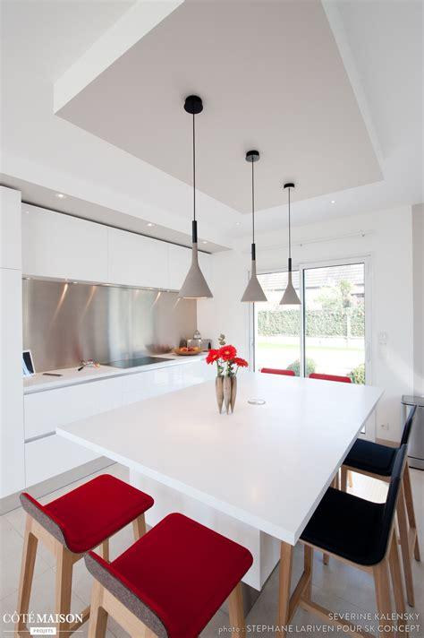 De La Table Dç Finition by Projet Cuisine Design Italien Total Look Blanc Avec 238 Lot