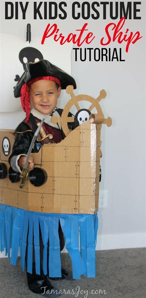 cardboard boat costume boys kids costume diy cardboard pirate ship tamara s joy