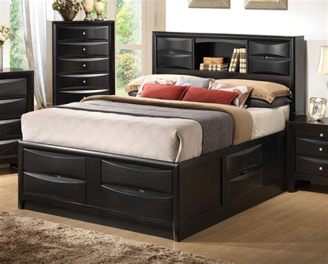 black california king bed briana black cal king size bed from coaster 202701kw