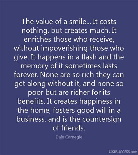 the value of a smile it costs nothing by dale carnegie