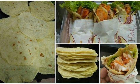 buat kulit tortilla homemade guna  bahan je jimat