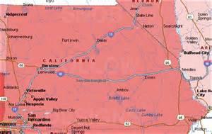 san bernardino county california color map
