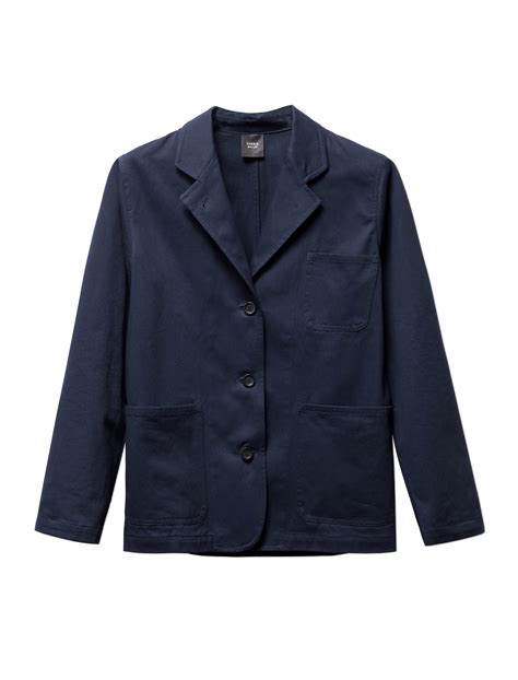 Just Say No To Sleeve Jackets by Sherie Muijs Womens Jacket No 176 13 Cotton Drill Navy
