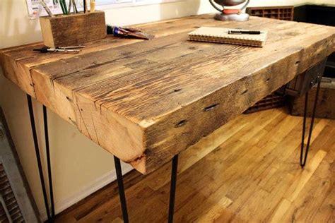 reclaimed wood writing desk 28 best white hardwood floors images on pinterest