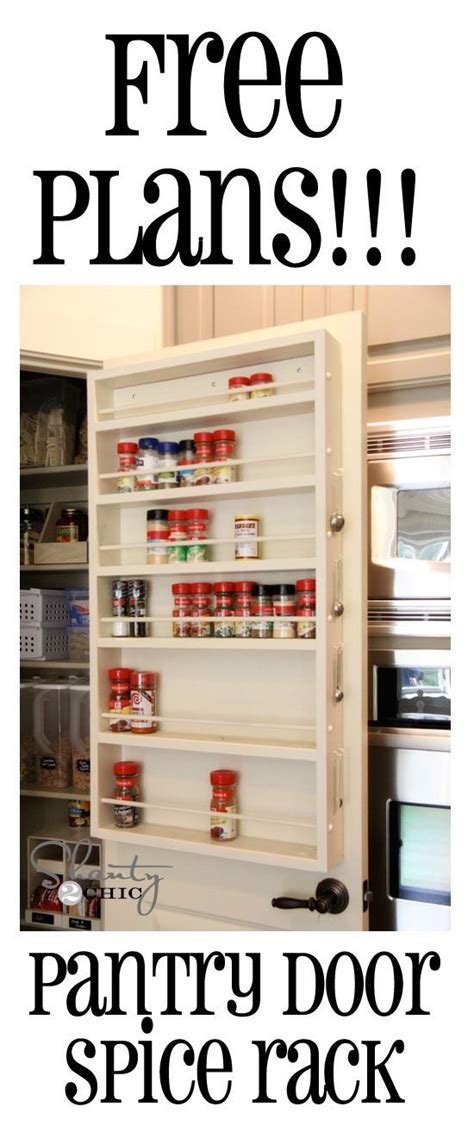 diy wooden door spice rack 15 pretty pantry projects spice racks best diy and furniture