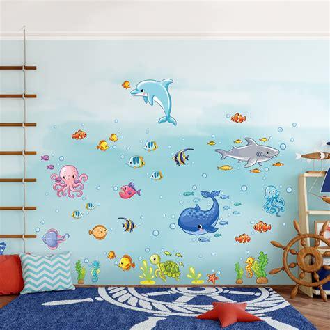 Wandtattoos Unterwasserwelt Kinderzimmer by Wandtattoo Kinderzimmer Unterwasserwelt Fisch Set