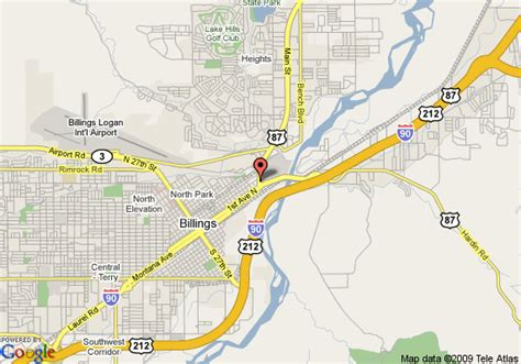 billings montana on map of usa map of country inn and suites billings billings