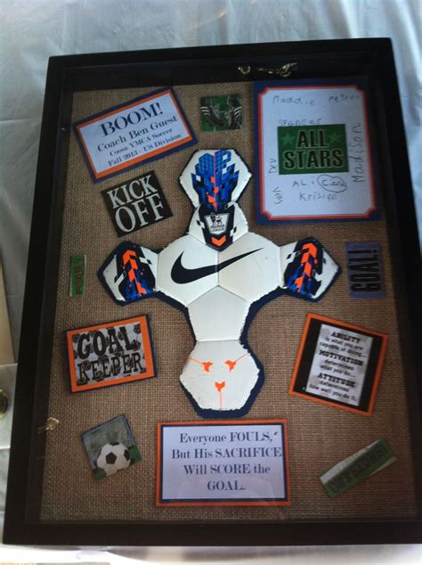 gift ideas for soccer fans soccer coach gift i also did this in auburn colors since