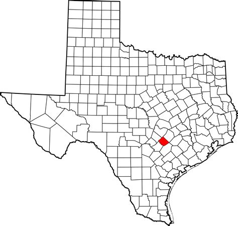map of lockhart texas file map of texas highlighting caldwell county svg wikimedia commons