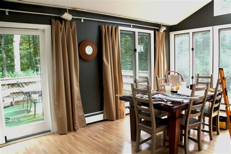 restaurant door curtain awesome brown fabric sliding dining room curtains for