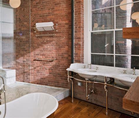 exposed bathroom plumbing industrial style bathroom exposed plumbing and brick