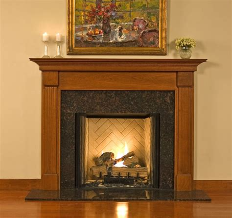 Wood Mantel On Fireplace by Wood Mantel Custom Fireplace Surrounds Franciscan