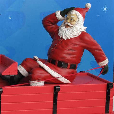 outdoor santa 115 quot yab designs outdoor santa sleigh reindeer
