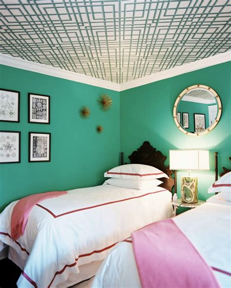 Blue Green Bedroom | walls painted blue and green home design inside