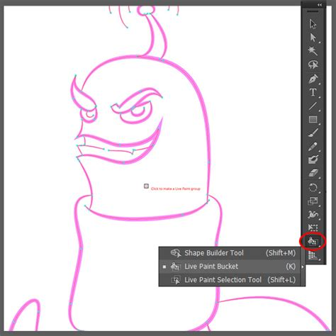 illustrator tutorial live paint using gradients to create a slick fun cartoon worm in